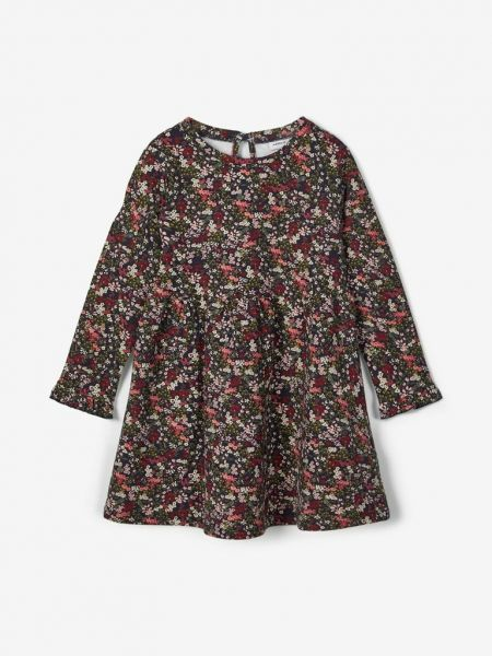name it Sweat Kleid Blumen Dark Saphire