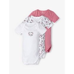 name it 3er Set Kurzarm Bodys Heather Rose Flower