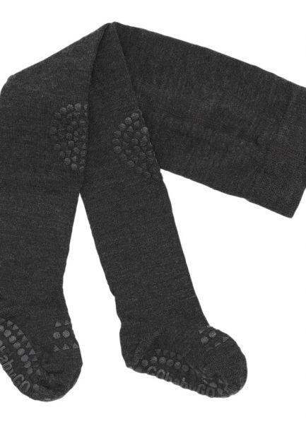 GoBabyGo Krabbelstrumpfhose Wolle Dark Grey Melange