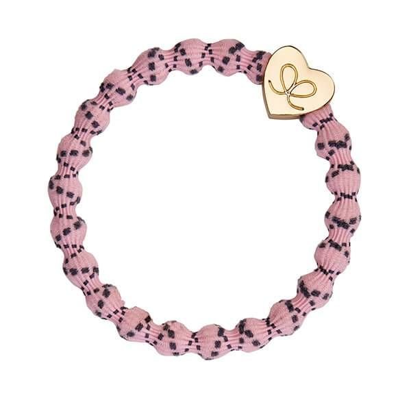 byEloise Haarband Armband Gold Heart Storm Grey on Soft Pink