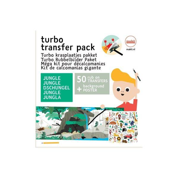 Makii Turbo Rubbelbilder Leporello Dschungel