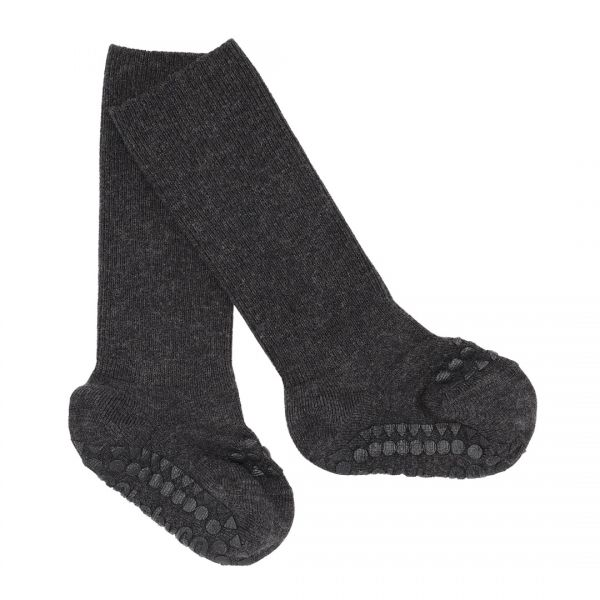 GoBabyGo Anti-Rutsch-Socken Bambus Dark Grey Melange