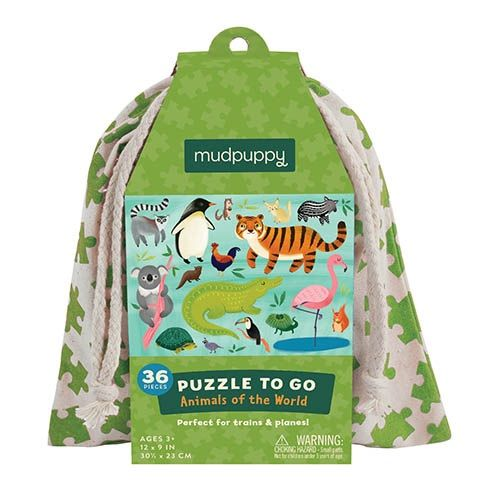 mudpuppy Puzzle To Go/Animals Of The World