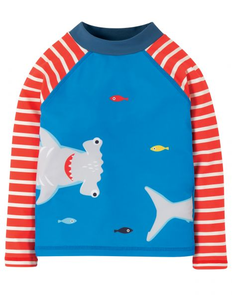 frugi UV-Schutz Shirt Motosu Blue/Shark