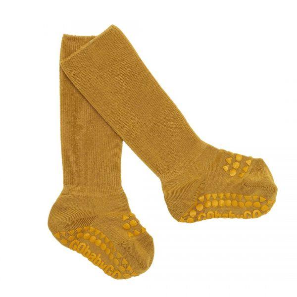 GoBabyGo Antirutsch-Socken Bambus Mustard