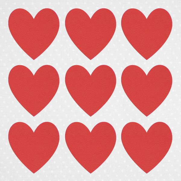 fabfabstickers Stoffsticker zum Aufbügeln Herzen Kamelienrot
