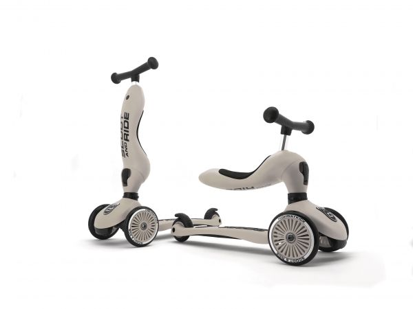 SCOOT AND RIDE Laufrad/Scooter Highwaykick 1 Ash