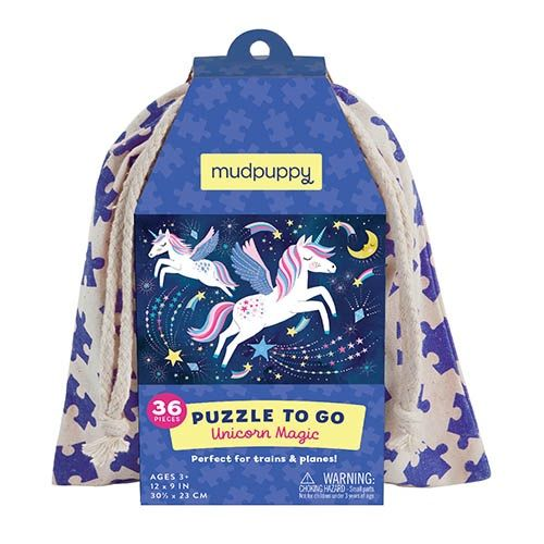 mudpuppy Puzzle To Go/Unicorn Magic