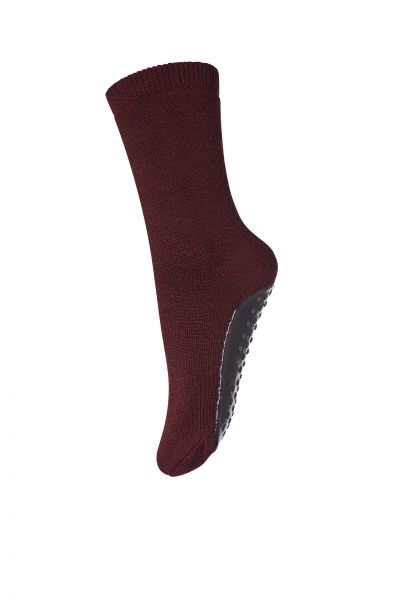 mp Denmark Vollfrottee ABS Socken Wolle Wine Red
