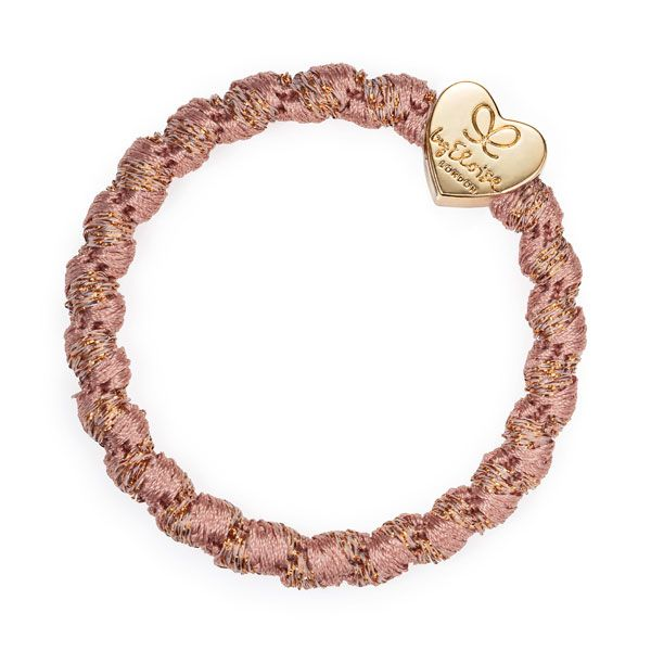 byEloise Haarband Armband Gold Heart Woven Rose