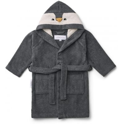 "Liewood Bademantel ""Lily Bathrobe"" Penguin Stone Grey"