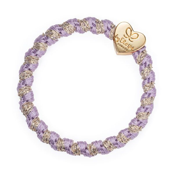 byEloise Haarband Armband Gold Heart Woven Lavender