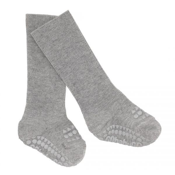GoBabyGo Anti-Rutsch-Socken Bambus Grey Melange
