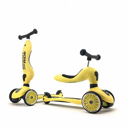 SCOOT AND RIDE Laufrad/Scooter Highwaykick 1 Lemon